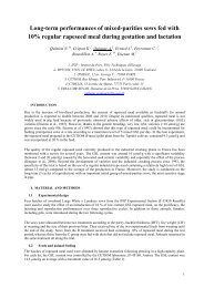 Long-term performances of mixed-parities sows fed with 10 ... - Ifip