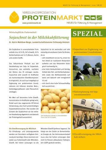 Sojaschrot in der Milchkuhfütterung - ProteinMarkt