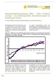 Proteinmarkt Fachartikel Körperkonditionsbeurteilung