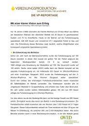 DIE VP-REPORTAGE - ProteinMarkt