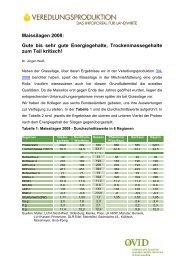 Maissilagen 2008: Gute bis sehr gute Energiegehalte ... - ProteinMarkt