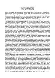 Sermone del 9 settembre 2007 - Protestanti a Bergamo