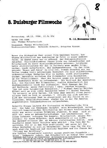 VATER UND SOHN - Mitscherlich - 1984