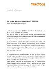 Pressemeldung - Protool GmbH