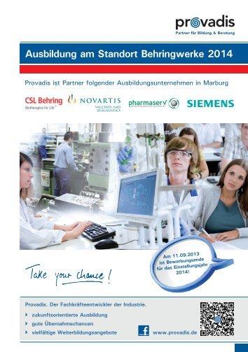 Ausbildungsbroschuere Marburg 2013 - Provadis