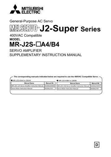 General-Purpose AC Servo J2-Super Series - Omni Ray AG