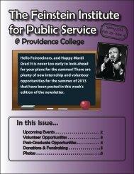 Enewsletter_2-25-13.indd - Providence College