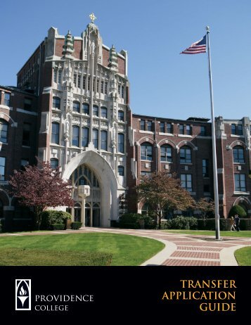 Transfer Application Guide (PDF) - Providence College