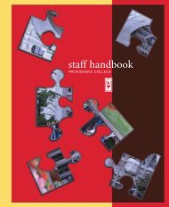 staff handbook - Providence College