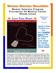 Women Warriors Newsletter - Providence VA Medical Center