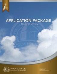 download the Doctor of Ministry Application Form - Providence ...
