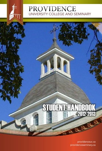 Student Handbook - Providence College and Theological Seminary