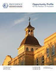 Opportunity Profile - Providence College and Theological Seminary