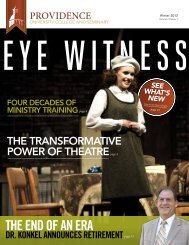 Winter 2012 Eye Witness - Providence College and Theological ...