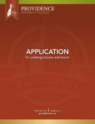Printable Application - Providence College and Theological Seminary