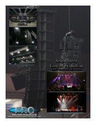 Arena Concert Production Cut-Sheet - Pro Video / Audio Productions
