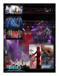 Concert Lighting Concert Lighting - Pro Video / Audio Productions