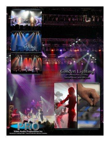 Concert Lighting Concert Lighting - Pro Video / Audio Productions