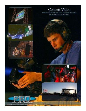 Concert Video Concert Video - Pro Video / Audio Productions