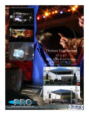 Thomas Roof Cut-Sheet - Pro Video / Audio Productions