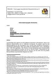 Informationspapier Schweine - Verein gegen tierquälerische ...