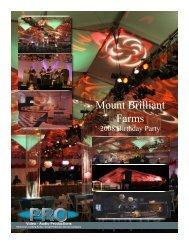 Mount Brilliant Farms - Pro Video / Audio Productions