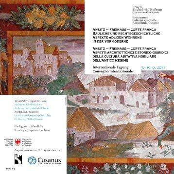 Il programma (pdf) - Rete Civica dell'Alto Adige