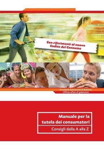 Manuale per la tutela dei consumatori - Centro Tutela Consumatori ...