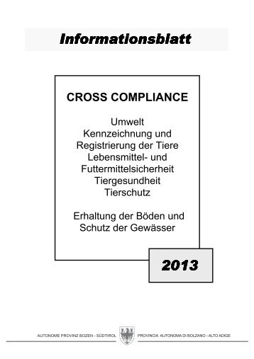 Informationsblatt CROSS COMPLIANCE