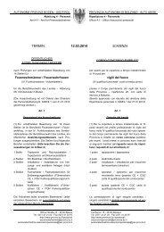 Ausschreibung Ausbildungswettbewerb7 - Rete Civica dell'Alto Adige