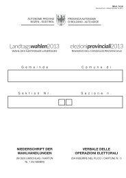 Niederschrift der Wahlhandlungen - Rete Civica dell'Alto Adige