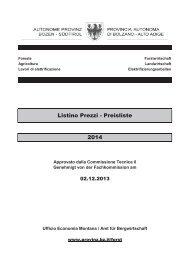 Listino Prezzi - Preisliste 2014