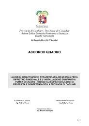 accordo quadro - Provincia di Cagliari