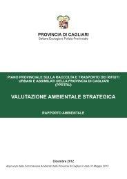 rapporto ambientale - Provincia di Cagliari