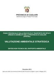 VALUTAZIONE AMBIENTALE STRATEGICA - Provincia di Cagliari