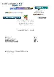 rassegna stampa 17 giugno - Provincia di Cagliari
