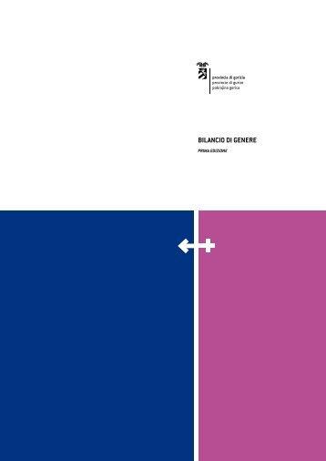 Il Bilancio di Genere 2008 - Provincia di Gorizia