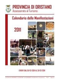 eventi dal 01/12/2011 al 31/12/2011 - Provincia di Oristano