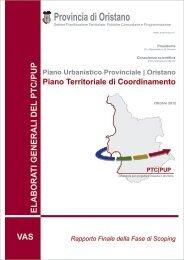 Rapporto finale della Fase di Scoping - Provincia di Oristano
