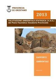 VAS - Rapporto Ambientale - Provincia di Oristano