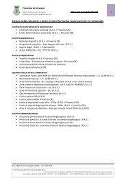 Elenco delle categorie e degli strati informativi rappresentati in ...
