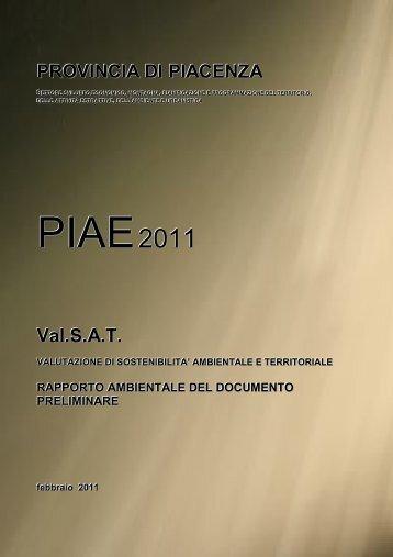 Rapporto ambientale - Provincia di Piacenza