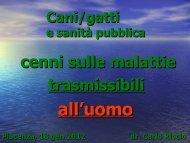Cani/gatti e sanità pubblica - Provincia di Piacenza