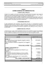 SCHEMA DI CONTRATTO E - Provincia di Piacenza