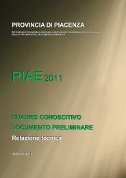 Relazione tecnica - Provincia di Piacenza