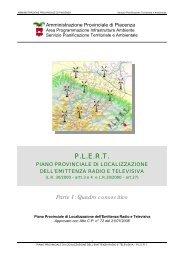 Parte I - Quadro Conoscitivo - Provincia di Piacenza