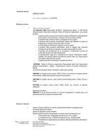 Formato Europeo per il Curriculum Vitae - Modello - Provincia di ...