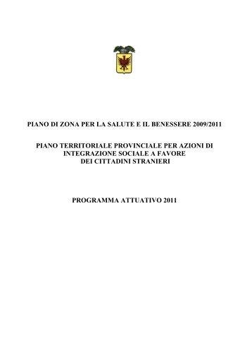 Piano Territoriale Provinciale per azioni di integrazione sociale a ...