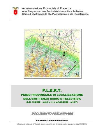 Documento preliminare - Provincia di Piacenza