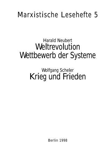 Weltrevolution Wettbewerb der Systeme Krieg und Frieden - Die Linke